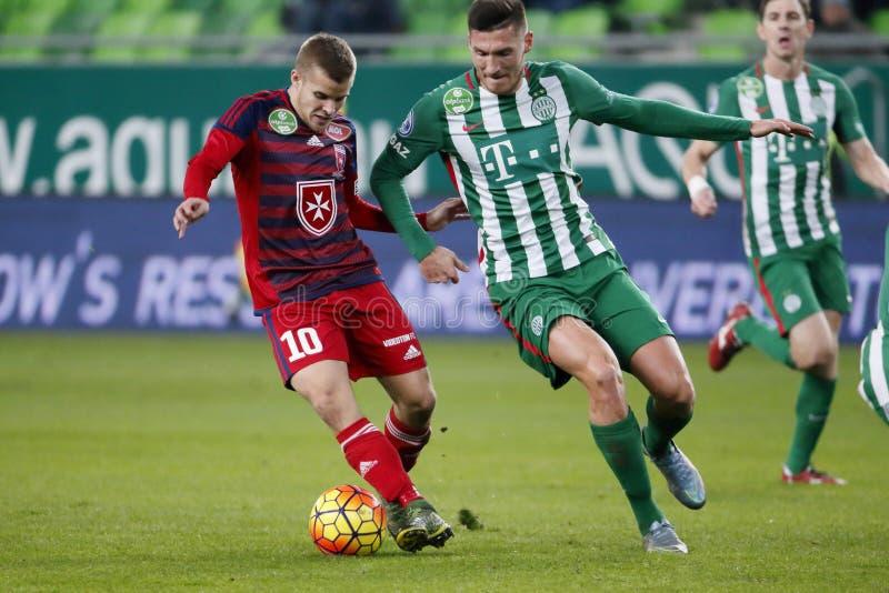 Ferencvaros - αγώνας ποδοσφαίρου ένωσης τράπεζας Videoton OTP στοκ εικόνες με δικαίωμα ελεύθερης χρήσης