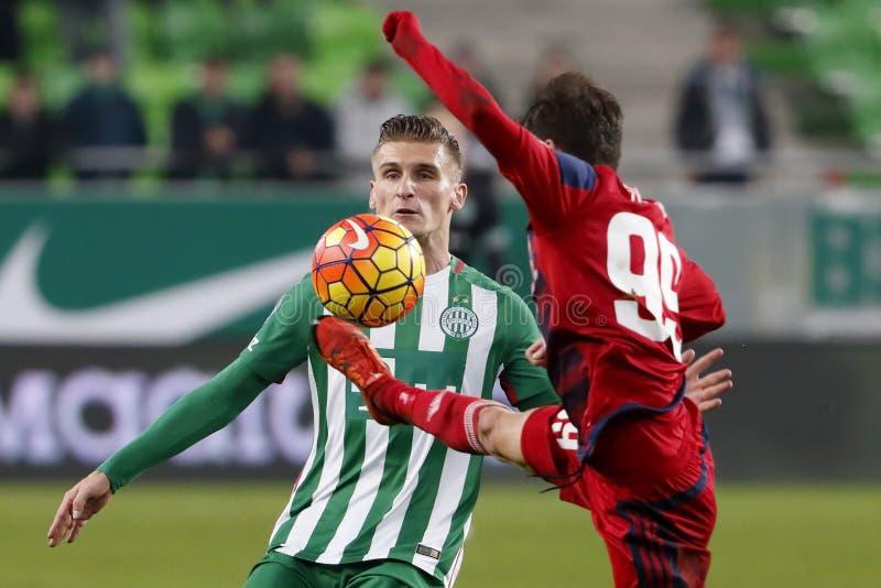 Ferencvaros - αγώνας ποδοσφαίρου ένωσης τράπεζας Videoton OTP στοκ φωτογραφίες