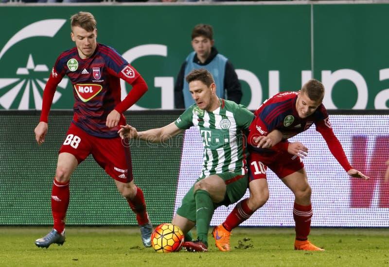 Ferencvaros - ουγγρικός αγώνας ποδοσφαίρου προημιτελικού φλυτζανιών Videoton στοκ εικόνες με δικαίωμα ελεύθερης χρήσης