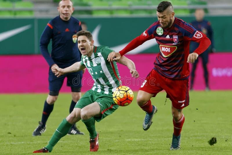 Ferencvaros - ουγγρικός αγώνας ποδοσφαίρου προημιτελικού φλυτζανιών Videoton στοκ φωτογραφίες