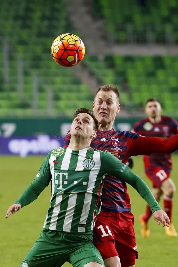 Ferencvaros - ουγγρικός αγώνας ποδοσφαίρου προημιτελικού φλυτζανιών Videoton στοκ εικόνες