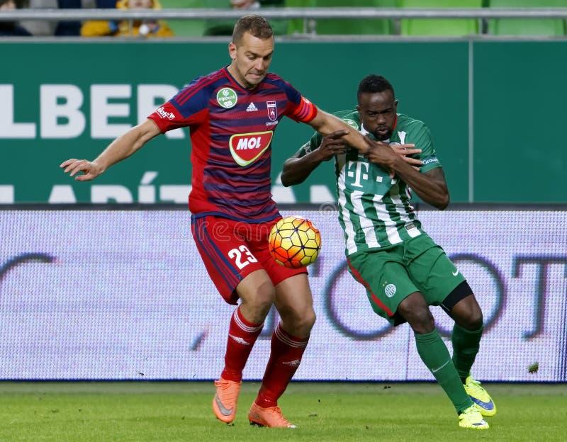 Ferencvaros - ουγγρικός αγώνας ποδοσφαίρου προημιτελικού φλυτζανιών Videoton στοκ φωτογραφία με δικαίωμα ελεύθερης χρήσης