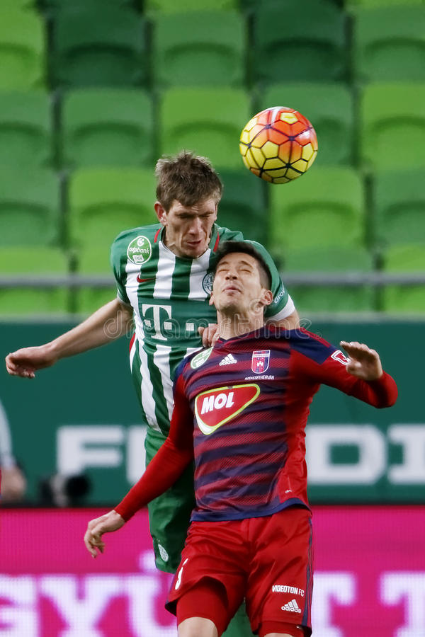 Ferencvaros - ουγγρικός αγώνας ποδοσφαίρου προημιτελικού φλυτζανιών Videoton στοκ φωτογραφίες με δικαίωμα ελεύθερης χρήσης