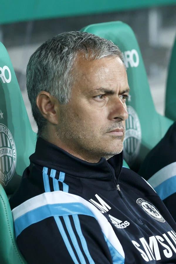 Ferencvaros contre Match de football d'ouverture de stade de Chelsea image libre de droits
