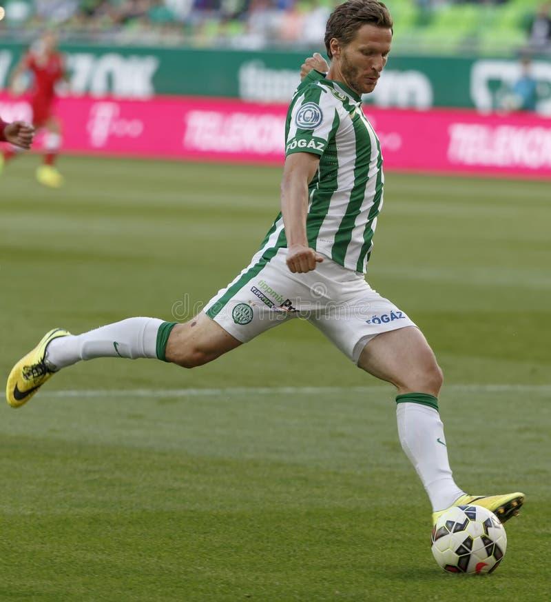 Ferencvaros contre Match de football de ligue de banque de Dunaujvaros OTP image libre de droits