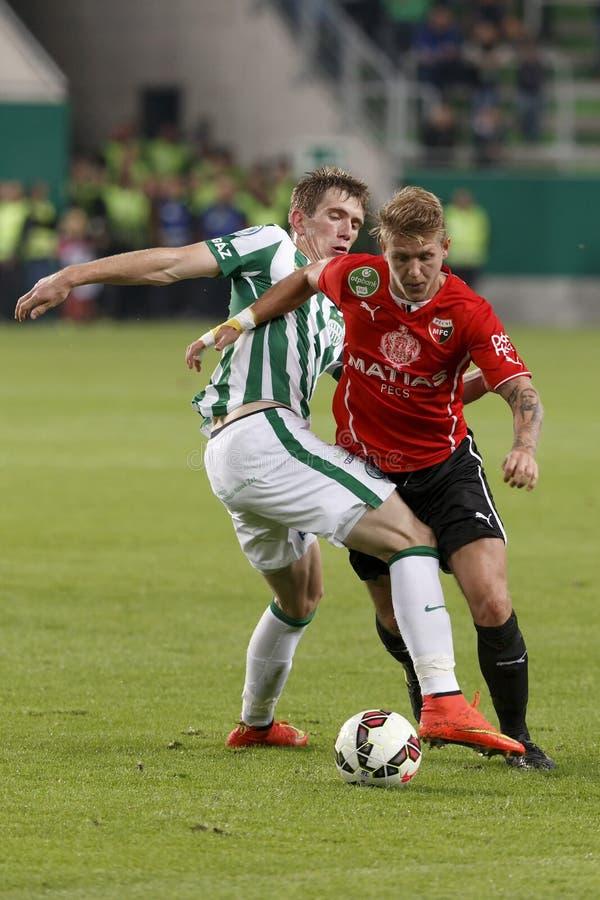 Ferencvaros gegen PMFC-MATIAS OTP Bank-Ligafußballspiel lizenzfreies stockbild