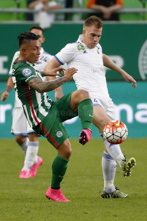 Ferencvaros vs Fotbollsmatch för Bekescsaba OTP bankliga royaltyfri fotografi