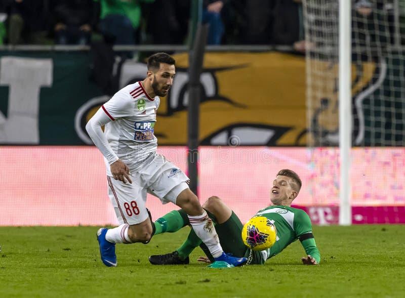 Ferencvarosi TC v DVSC - OTP Bank Liga 2-0 royalty free stock photos