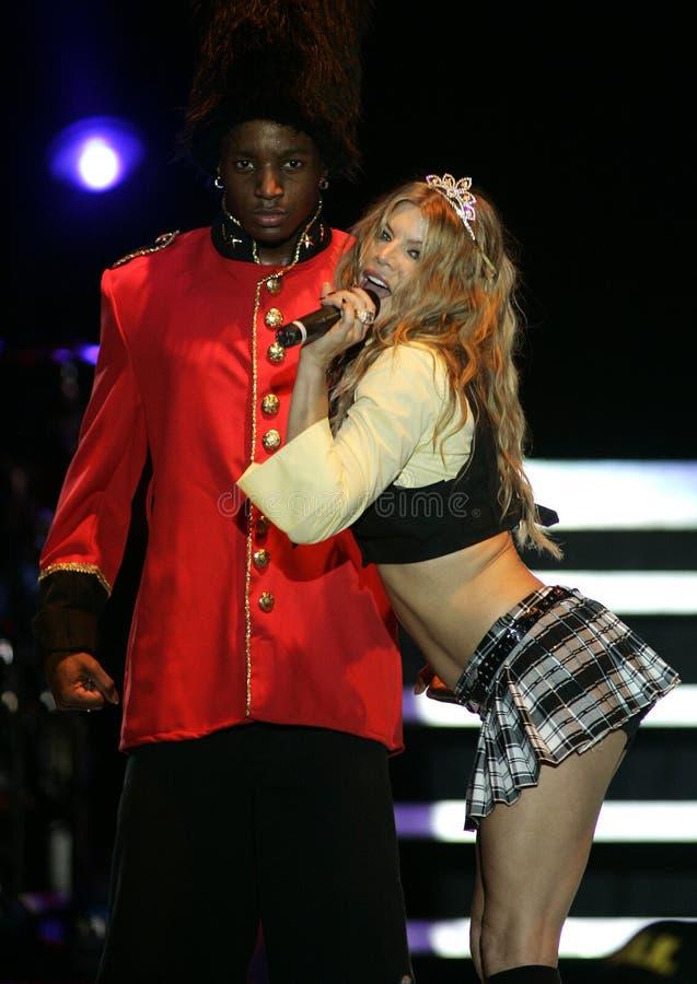 Fergie выполняет в концерте стоковое изображение rf