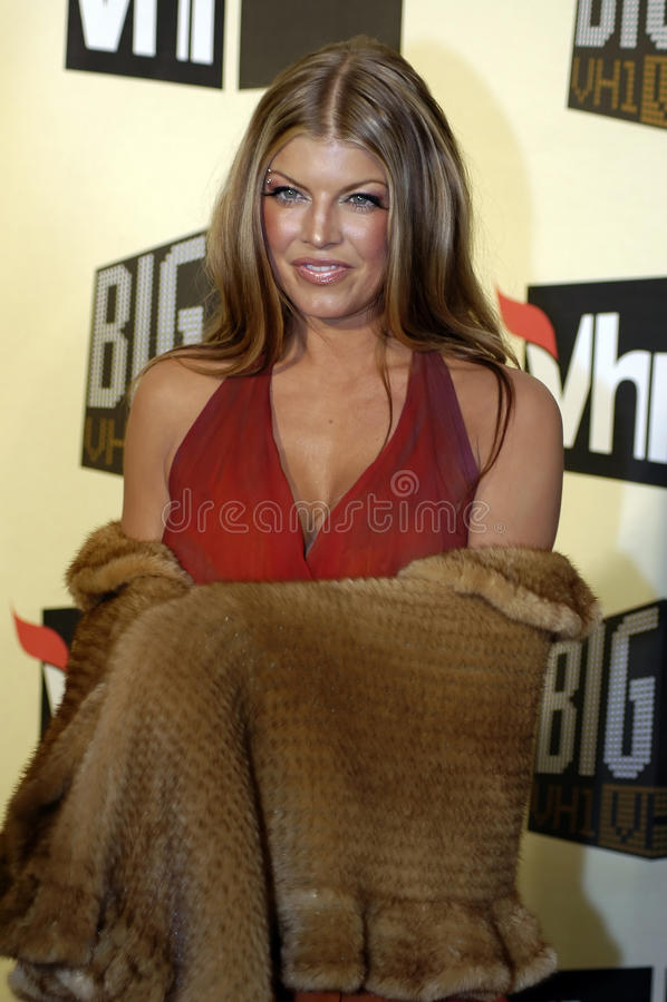 Fergie sur le tapis rouge. photo libre de droits