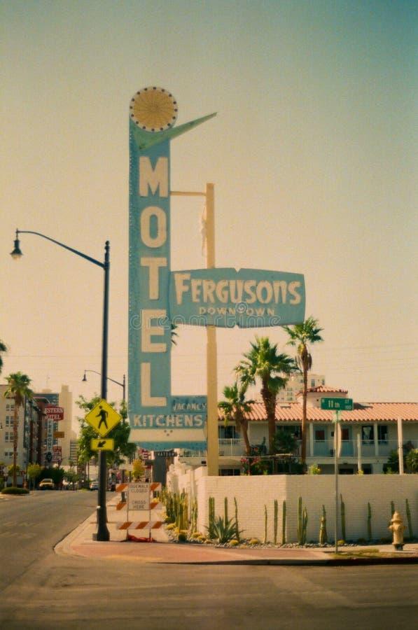 Free Ferguson`s Downtown Las Vegas Motel Sign Royalty Free Stock Photo - 197606455