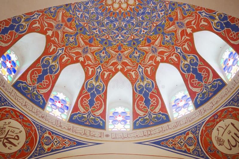 Ferhat Pasha meczetu wnętrze obraz royalty free