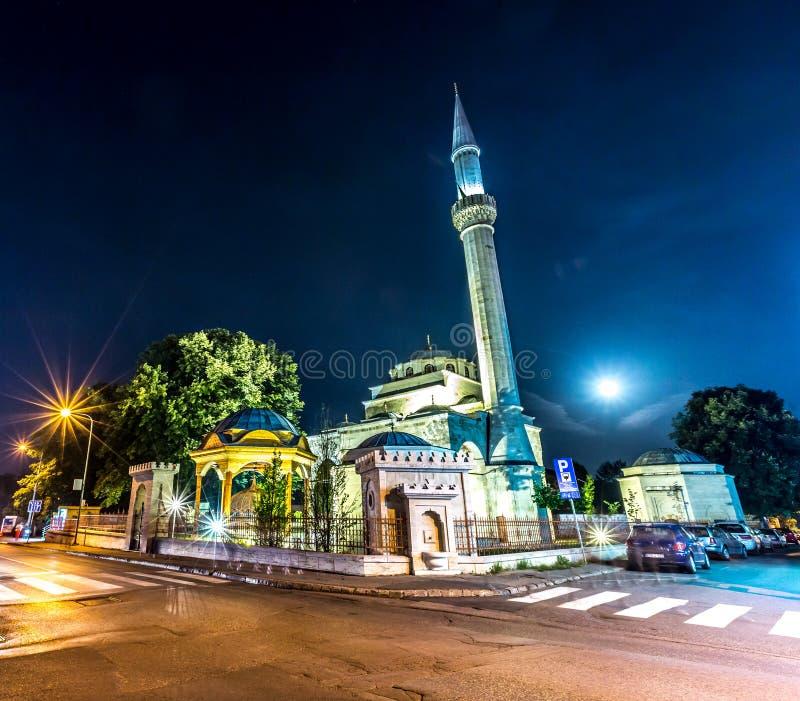 Ferhat Pasha Mosque. At night Banja Luka, Bosnia stock photos