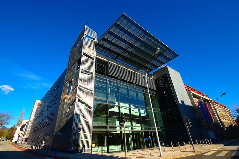 Feri Maribor, Slovenia. Modern building of Faculty of electrical engineering and computer science in Maribor, Slovenia stock image