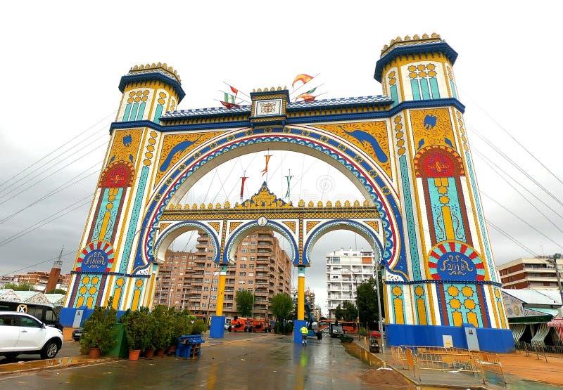 Feria de Abril en Sevilla, España foto de archivo libre de regalías