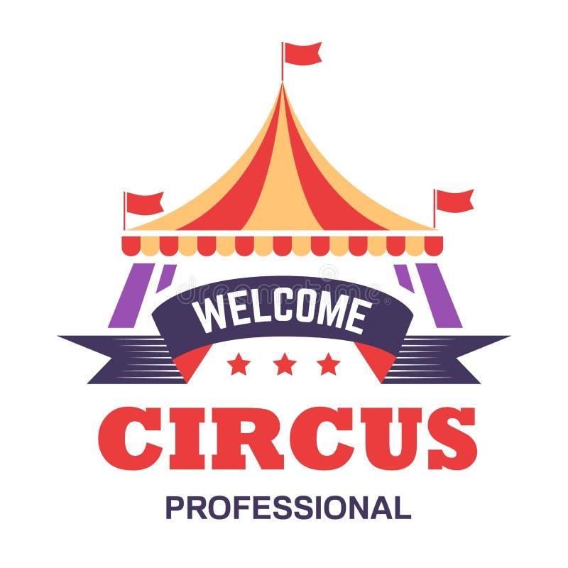 Feria de diversión superior grande aislada demostración de la tienda del icono del circo libre illustration