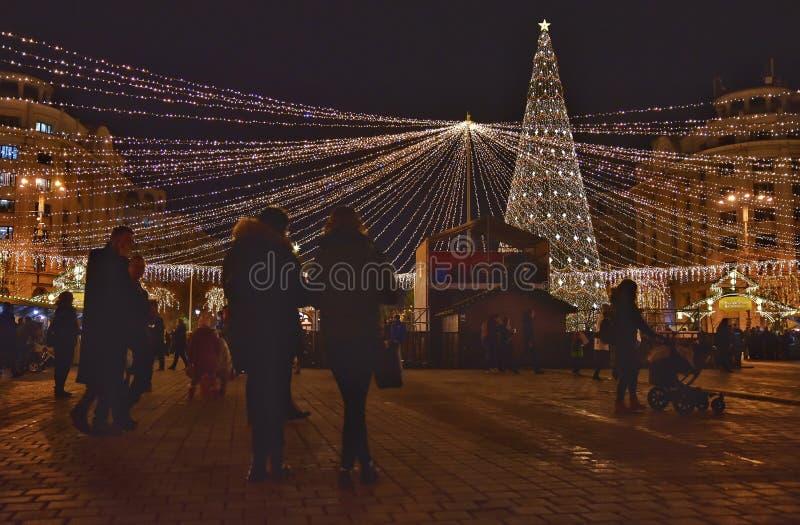Feria de la Navidad, Bucarest foto de archivo