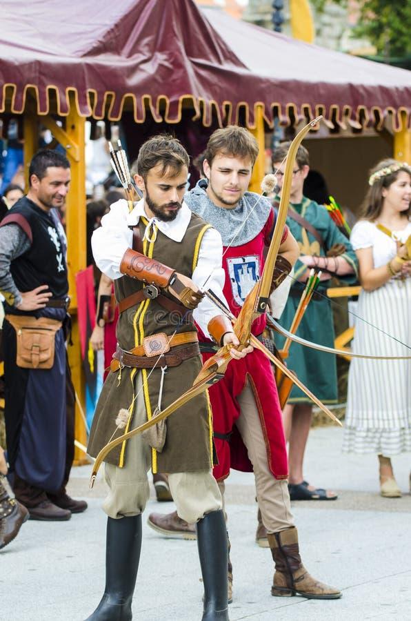 Feria medieval en Galicia España foto de archivo libre de regalías