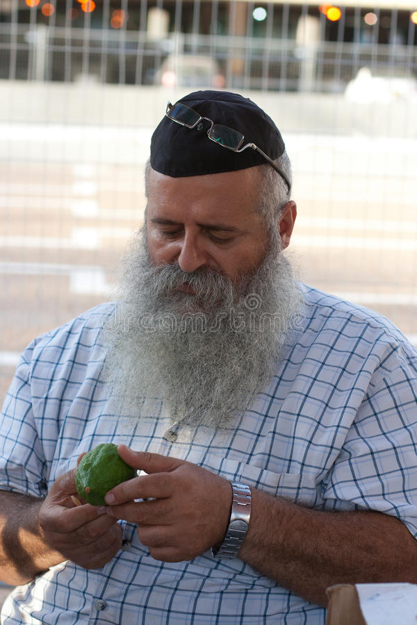 Feria a una del día de fiesta bíblico Sukkot del thre foto de archivo libre de regalías