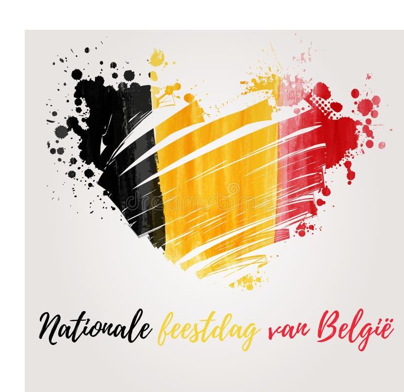 Feriado belga do dia nacional ilustração stock