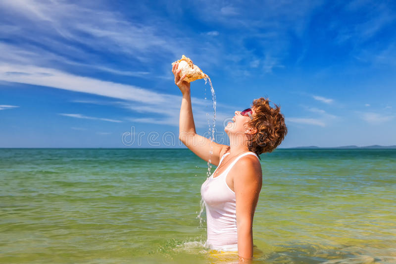 Feriado da praia! fotos de stock royalty free