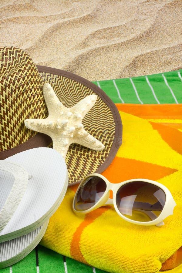 Feriado da praia das horas de verão fotografia de stock