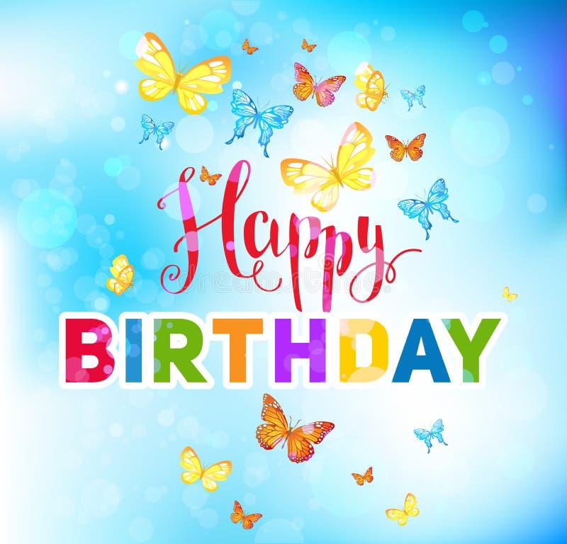 Feriado do feliz aniversario ilustração royalty free