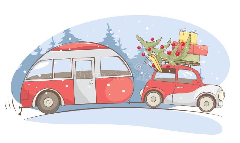 Feriado do Natal, férias do inverno ilustração royalty free