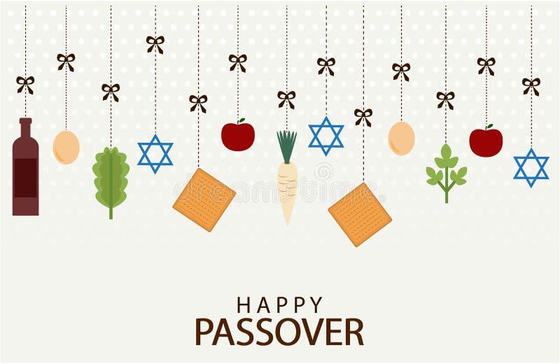 Feriado feliz da páscoa judaica ilustração do vetor