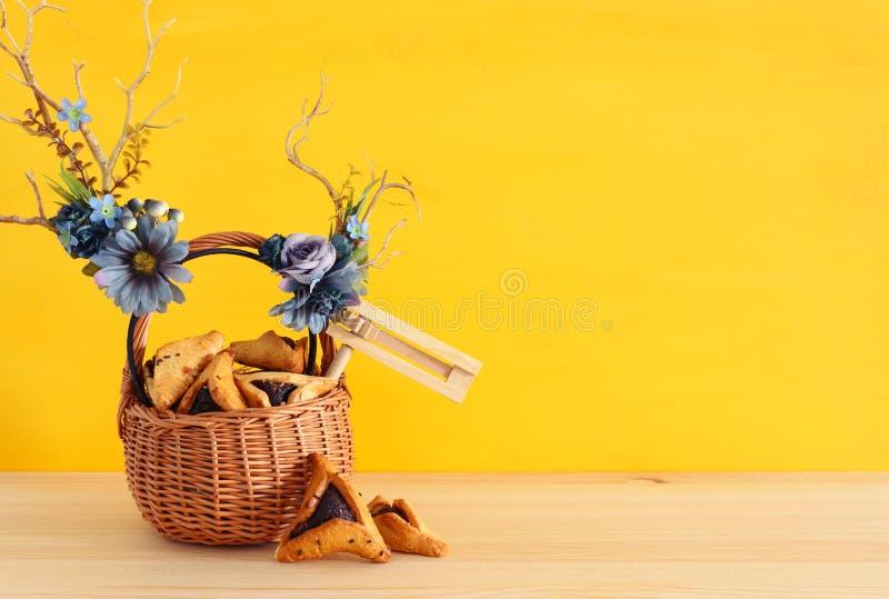 Feriado judaico do carnaval do conceito da celebração de Purim imagem de stock