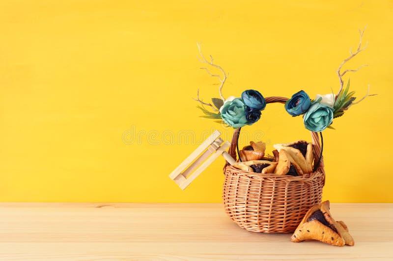 Feriado judaico do carnaval do conceito da celebração de Purim imagens de stock