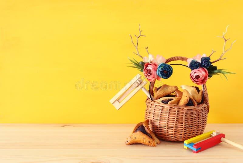 Feriado judaico do carnaval do conceito da celebração de Purim foto de stock royalty free