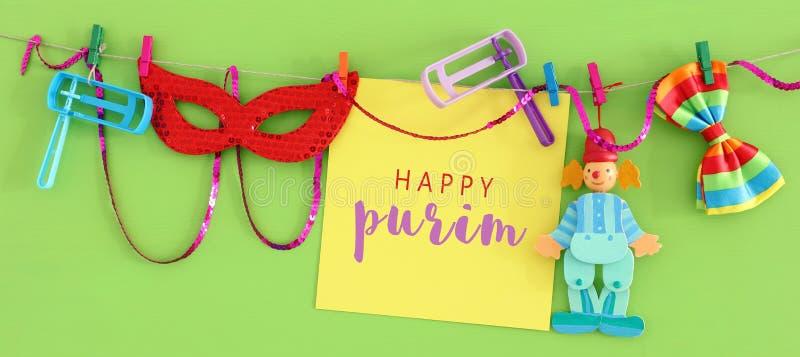Feriado judaico do carnaval do conceito da celebração de Purim foto de stock