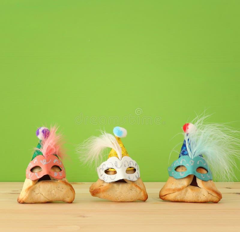 Feriado judaico do carnaval do conceito da celebração de Purim fotos de stock royalty free
