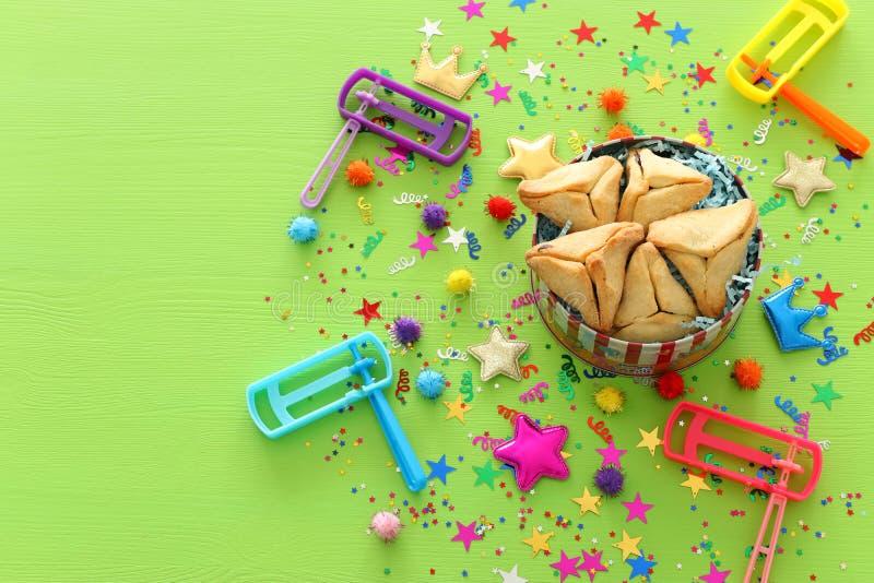 Feriado judaico do carnaval do conceito da celebração de Purim fotografia de stock royalty free