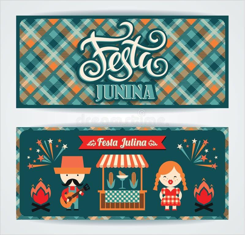Feriado latino-americano, o partido de junho de Brasil ilustração stock