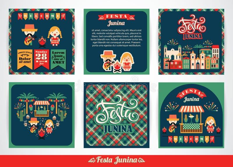 Feriado latino-americano, o partido de junho de Brasil ilustração royalty free