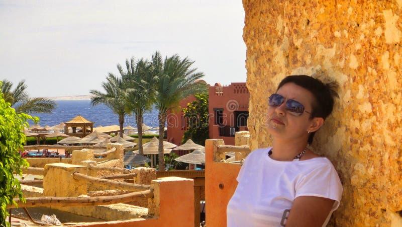 Feriado no hotel egípcio fotografia de stock royalty free