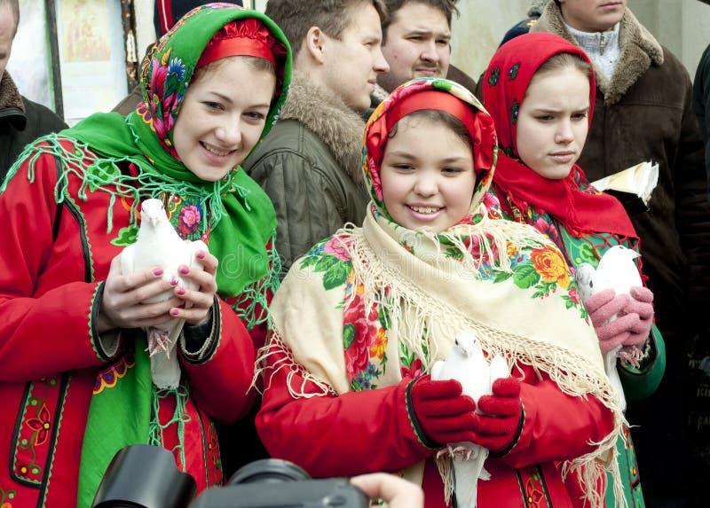 Feriado religioso Maslenitsa do russo imagem de stock