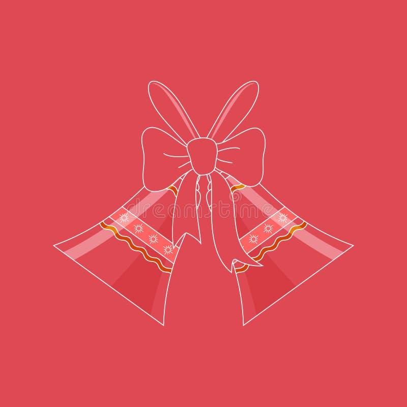 Ferie Crystal Glass Jingle Bells vektor illustrationer