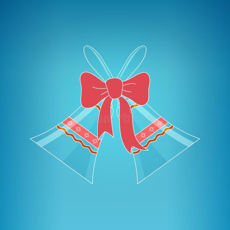 Ferie Crystal Glass Jingle Bells stock illustrationer