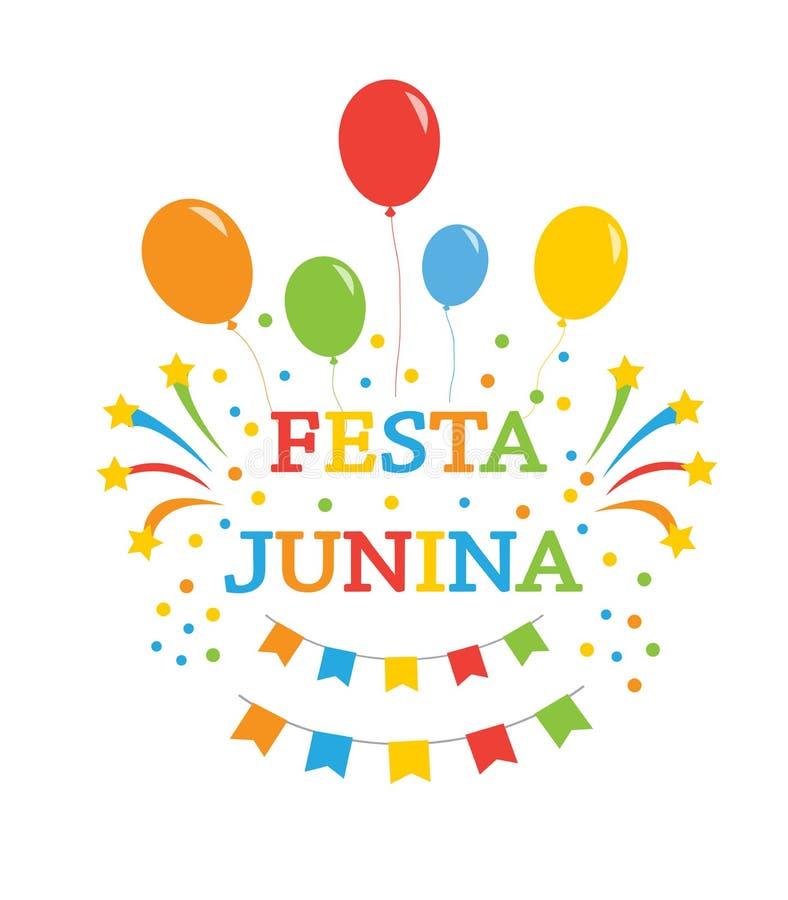 Ferie för Festa juninabakgrund också vektor för coreldrawillustration stock illustrationer