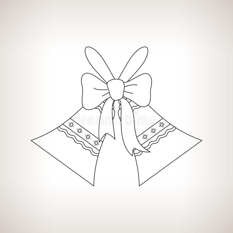 Ferie Jingle Bells på en ljus bakgrund vektor illustrationer