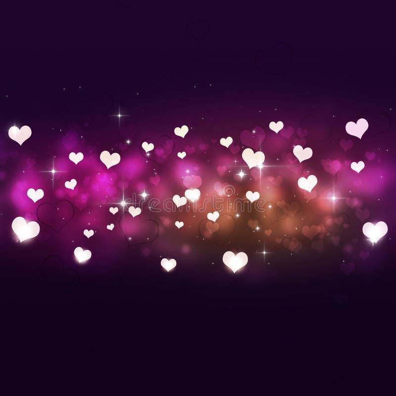 Ferie ljusa Valentine Hearts vektor illustrationer