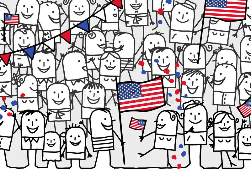 ferie nationella USA stock illustrationer