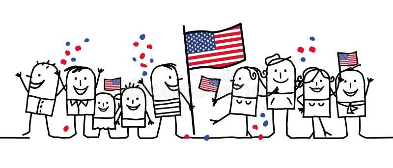 ferie nationella USA royaltyfri illustrationer