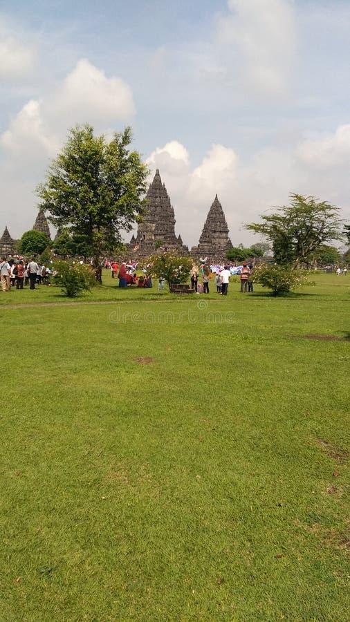 Ferie på den prambanan templet arkivfoton