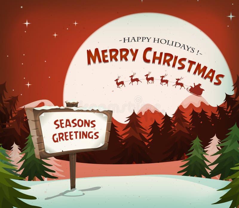 Feriebakgrund för lycklig jul stock illustrationer