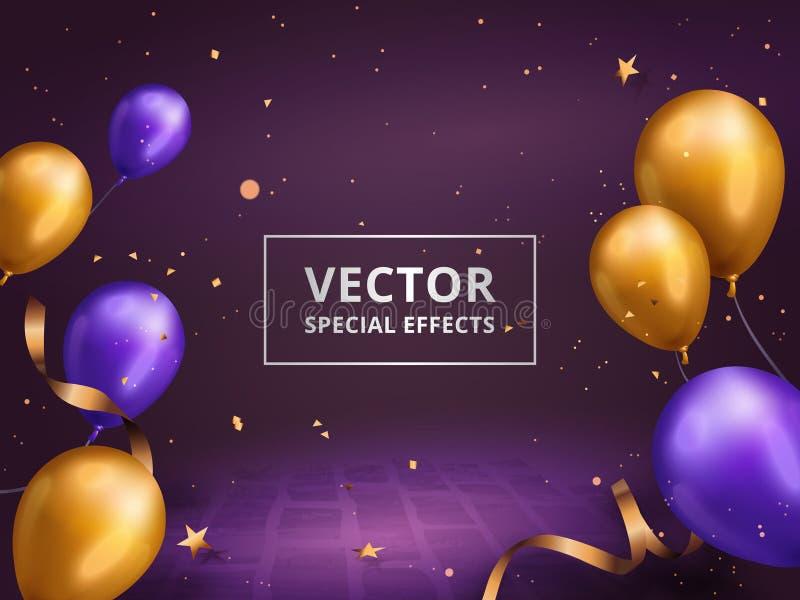 Feriegarneringram vektor illustrationer