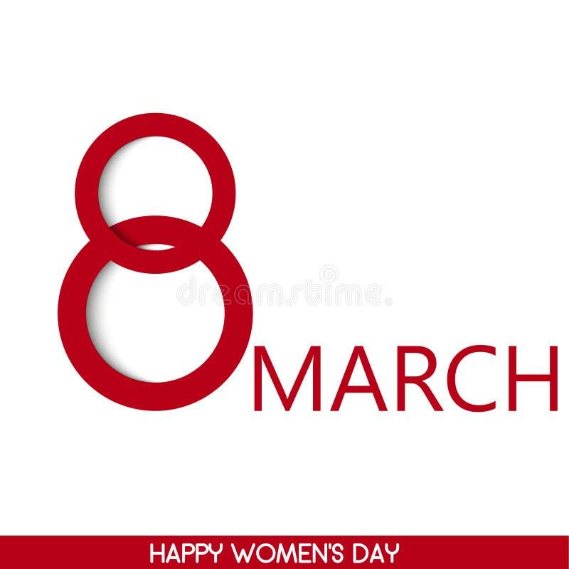 8 feriekort för marsch Card för dag för kvinna` s vektor vektor illustrationer
